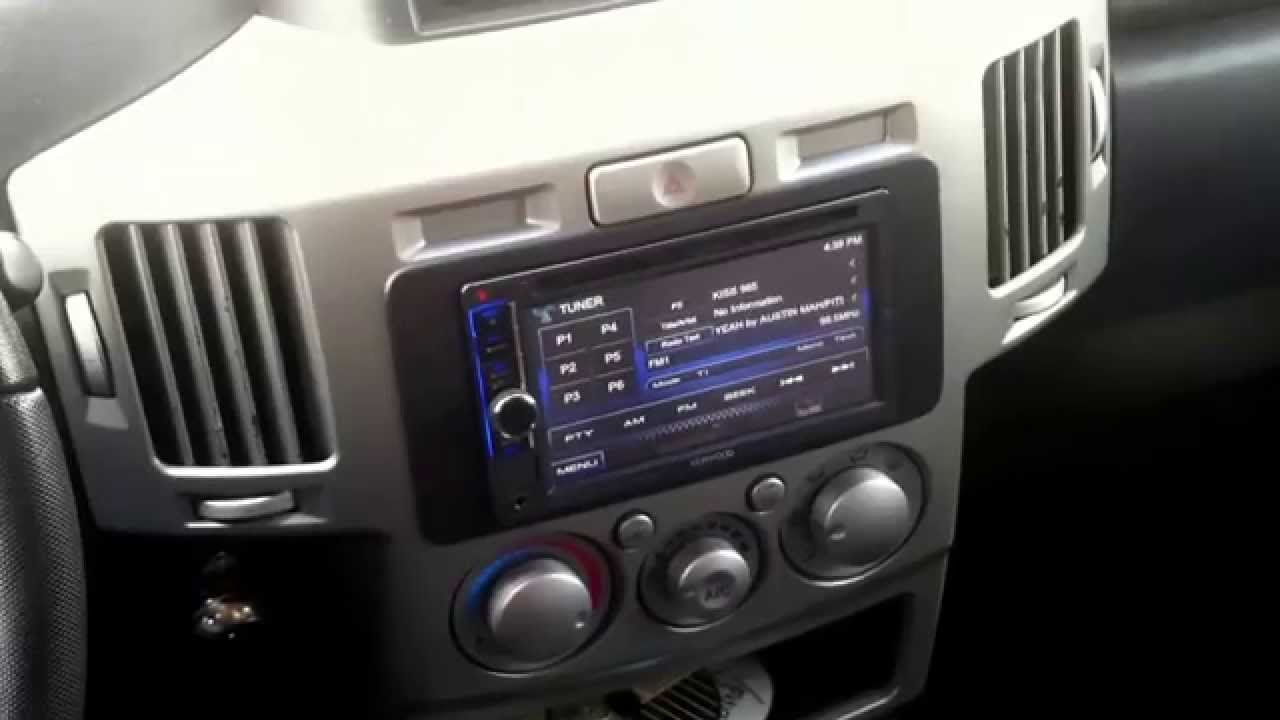 hight resolution of double 2 din dash kit 2004 2012 mitsubishi endeavor from customradio com youtube