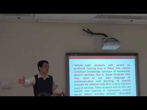 HKU CAISE Seminar: Why Sign Language in Co-Enrollment in Education for Deaf and Hearing Children?