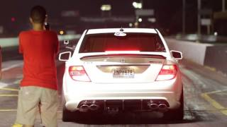 Mercedes Benz C63 AMG 10 sec 1/4 mile run
