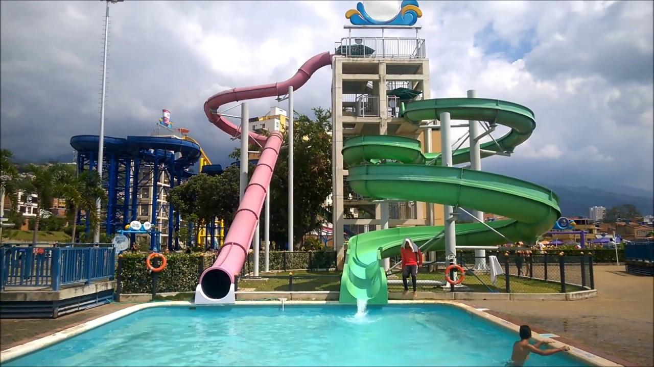 Parque acualago floridablanca santander youtube - Piscinas en santander ...