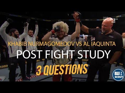 BJJ Scout: Khabib Nurmagomedov v Iaquinta Post Fight Study - 3 Unusual Outcomes Explained