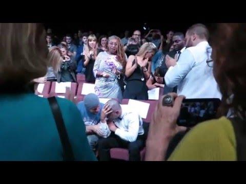 Shia LaBeouf cries during Man Down preview