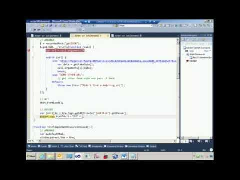 Unit testing CRM 2011 JavaScript web resources