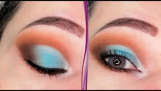 Бирюзовый макияж глаз в стиле кат криз Пошаговый урок