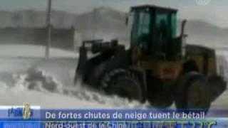 Tempêtes de neige dans le nord de la Chine