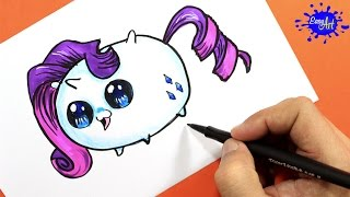 How to Draw Rarity (Tsum Tsum) / Como Dibujar a Rarity (Tsum Tsum)  / Easy art