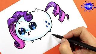 How to Draw Rarity (Tsum Tsum) / Como Dibujar a Rarity (Tsum Tsum)  / Easy art