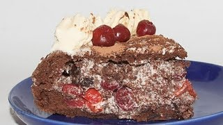 Торт «Пьяная Вишня» видео рецепт UcookVideo.ru