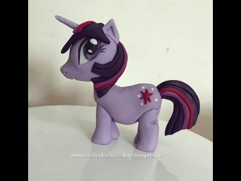 How To Make Twilight Sparkle From My Little Pony Cake Topper