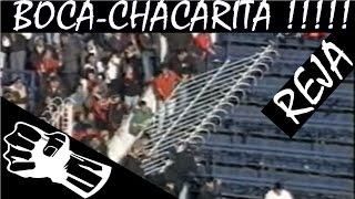 VIOLENCIA EN EL FUTBOL - incidentes boca chacarita - Chacarita vs Boca Incidentes 2003