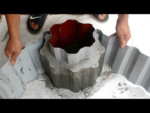 Make Nice Flower Pots For Garden / Ideas From Cement / Design Plant Pots Beautiful At Home
