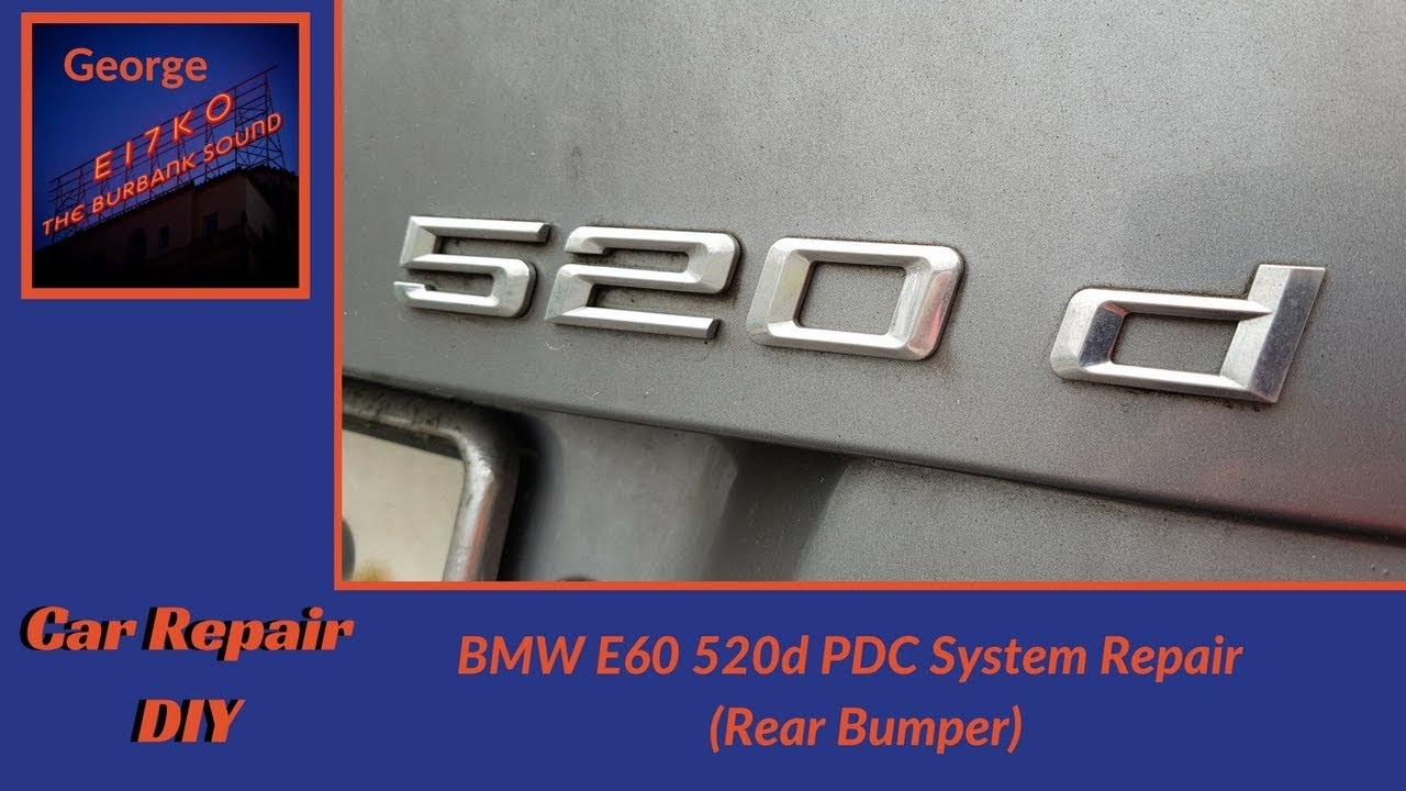 medium resolution of bmw e60 520d pdc system repair rear bumper