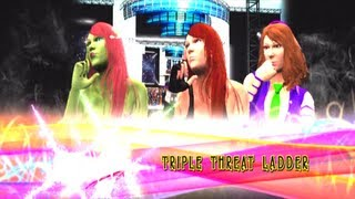 TMN - Yoko Littner vs Daphne Blake vs Poison Ivy [Ladder MITB Match] - WWE 13