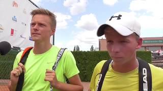 Antonín Bolardt a Jiří Vachtl po prohře v 1. kole čtyřhry na turnaji Futures v Pardubicích