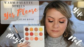 Warm Eye Shadow Palette Series - Yip/Nah/Maybe - ColourPop Yes Please