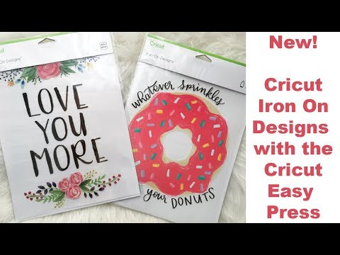 Cricut Iron On Designs with the Cricut Easy Press