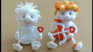 Купидоны, куклы из колготок и ткани. Doll of tights, stockings, Cupids