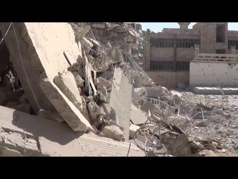 قصف مدرسة لتعليم الاطفال في حي السكري (مجزرة عين جالوت) 30 4 2014
