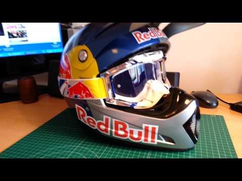 Red Bull Helmet Finish Glasses red bulll