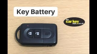 Key Battery Nissan Micra Note Qashqai Proximity key  HOW TO change key battery