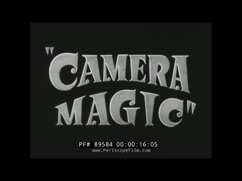 "1940s SPECIAL EFFECTS PHOTOGRAPHY & ILLUSIONS FILM   "" CAMERA MAGIC "" OPTICAL PRINTER 89584"