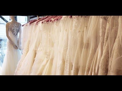 Brautmode 2014: Die Brautkleid Trends (gleich anprobiert) - YouTube
