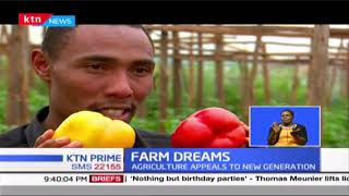 Young Kiambu based farmer who has taken up horticulture as a side hustle, & Is reaping the benefits