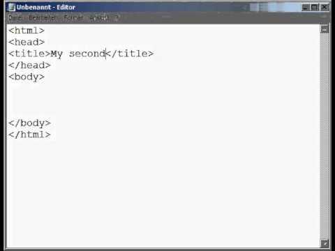 My Second Webpage - HTML Basics Tutorial