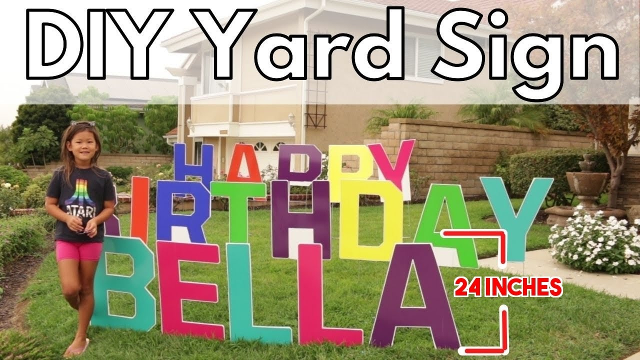 How To Diy Lawn Yard Sign Weather Proof 24 Inch Height Youtube
