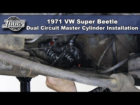 JBugs - 1971 VW Super Beetle - Dual Circuit Master Cylinder Installation