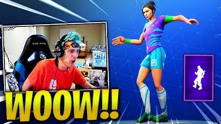 "NINJA REACTS *NEW* ""POP LOCK"" EMOTE/DANCE! - Fortnite Best & Funny Moments (Fornite Battle Royale)"
