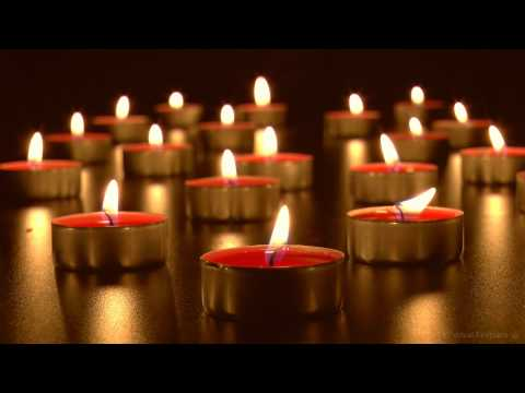 🕯Virtual Candles: Relaxing Burning Tea Lights with Soothing Wind Chimes (HD)