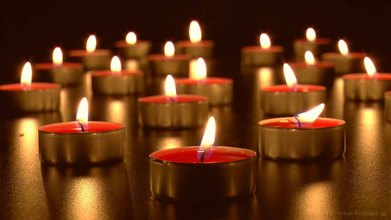 virtual candles relaxing burning