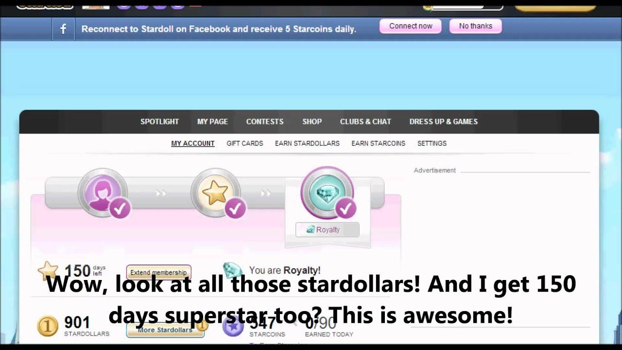 ♥ Stardoll 900 Stardollars and 150 Days FREE Superstar ♥