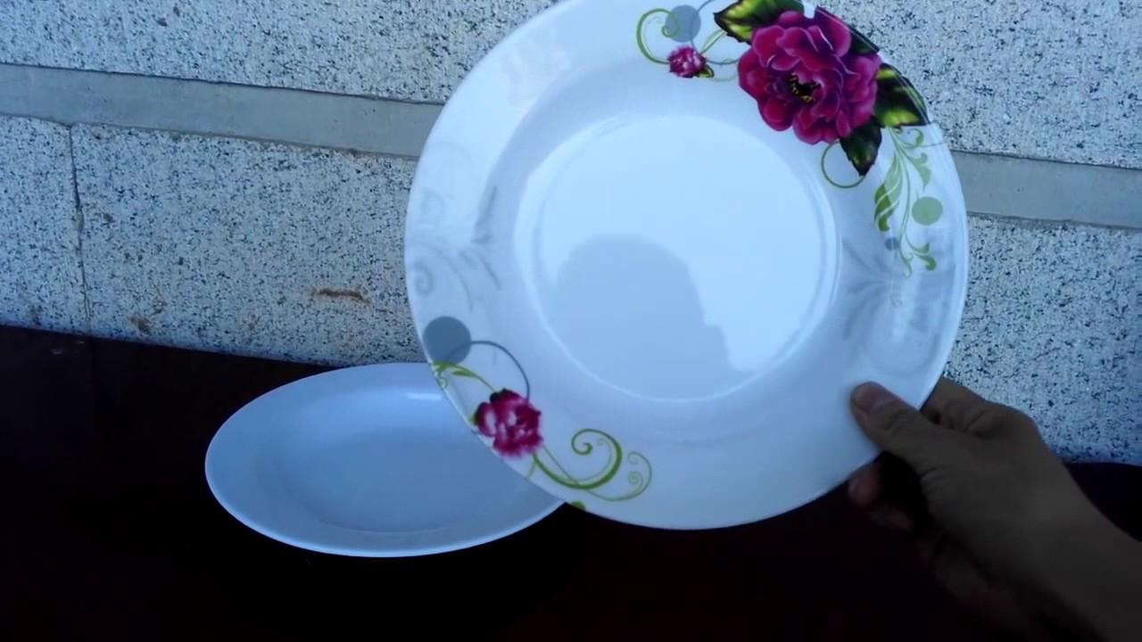 Unbreakable Melamine Round Deep Dinner Plate Decoration Dinnerware & Unbreakable Melamine Round Deep Dinner Plate Decoration Dinnerware ...