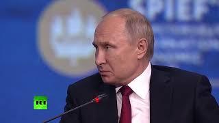 Vladímir Putin en el Foro Económico de San Petersburgo