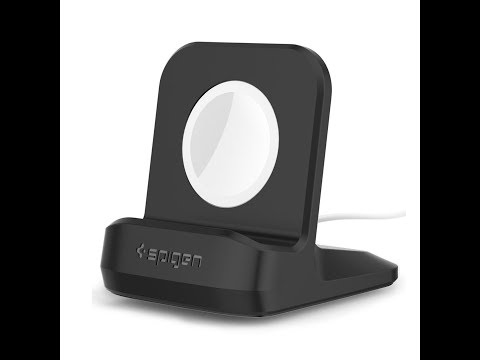 "Spigen Apple Watch Night Stand S350 ""Black"" Unboxing"