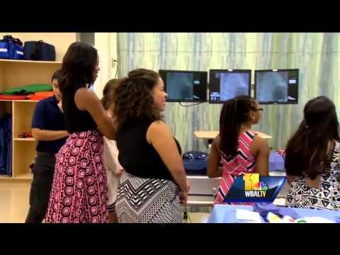 Michelle Obama visits Howard Community College
