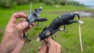Кто бы мог подумать!? Рыбалка на ЛЕТУЧИХ МЫШЕЙ и КРЫС! Креативные приманки опять в Снасти Здрасьте!