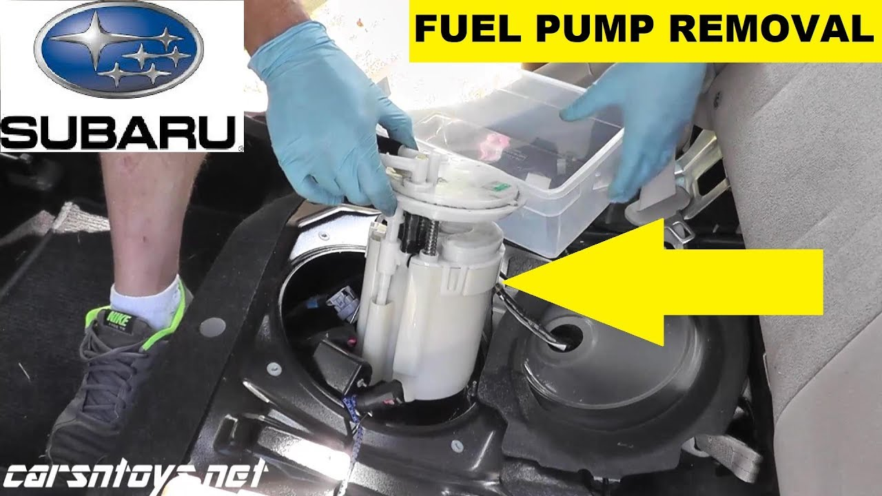 Subaru Fuel Pump Removal and Replacement - YouTubeYouTube