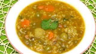 Asopao (sopon) De Gandules Con Bolitas De Platano Or Pigeon Pea Soup