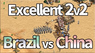 Excellent AoE2 2v2! Brazil vs China!