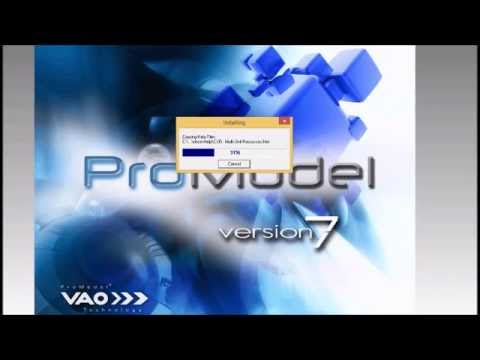 Como Instalar Promodel 7 Youtube
