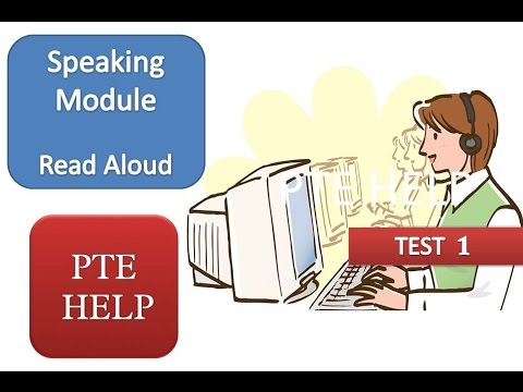 PTE Academic Read Aloud, real exam---Score 90, PTE Help Test 1 - YouTube