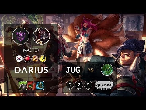 Darius Jungle Vs Zac - KR Master Patch 10.4