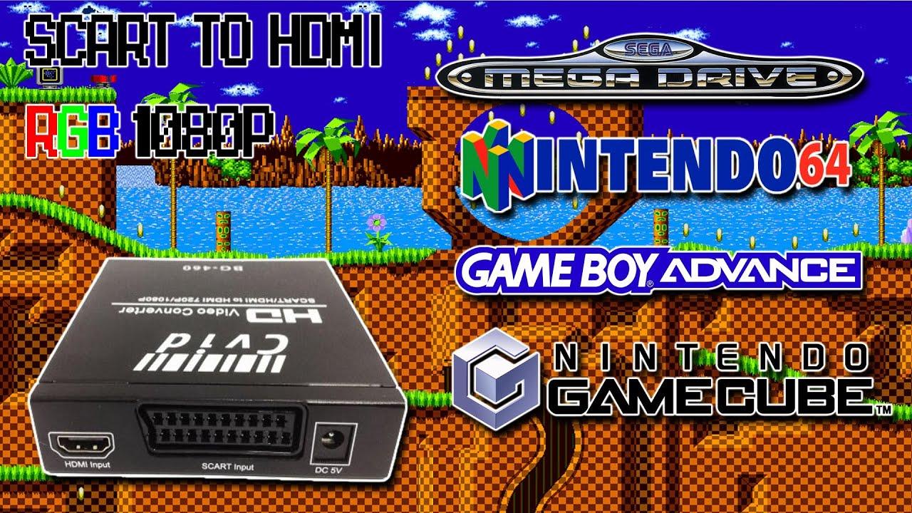 Scart To Hdmi 1080p Rgb Scaler Mega Drive N64 Game