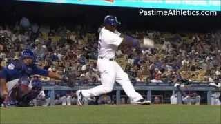 yasiel puig home run baseball swing slow motion hitting mechanics analysis la dodgers mlb