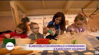 Élménydélután rászoruló gyermekeknek a karácsonyi vásárban