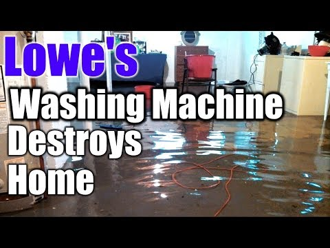 Lowe's Washing Machine Destroys Customers Home | THE HANDYMAN |