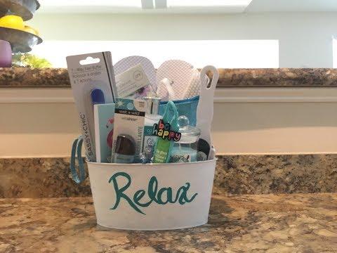 Diy dollar tree spa themed gift basket